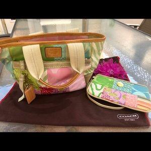 Rare Coach Hampton's Spring Pastel Patchwork Bag
